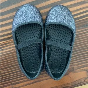 Brand new black Native slip on glitter shoes sz 7